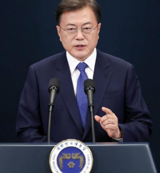 【双语学习】韩总统文在寅就职3周年演说(节选)