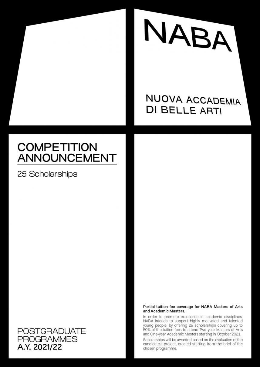 意大利NABA新美术学院2021奖学金来啦